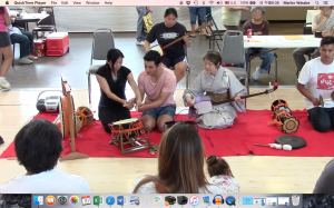 Workshop with grown up taiko